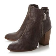 Pia block heel ankle boots