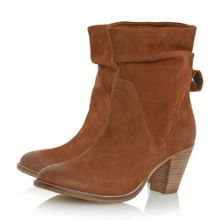 Dune Rosana rouched nubuck calf boots