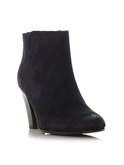 Pharah back zip heeled ankle boots
