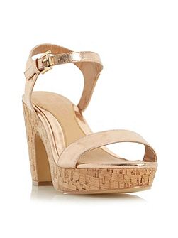 Indiya two part cork platform sandals