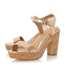 Head Over Heels Indiya two part cork platform sandals