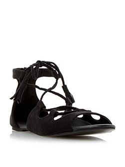 Lillie ghille lace up flat sandals