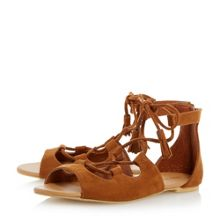 Head Over Heels Lillie ghille lace up flat sandals