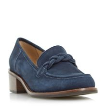 Dune Grateful block heel loafers