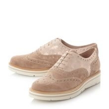 Dune Feathers suede flatform brogues