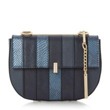 Dune Ellen patchwork chain mini saddle bag