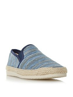 Funfair striped canvas espadrille shoe