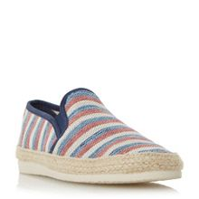 Dune Funfair striped canvas espadrille shoe