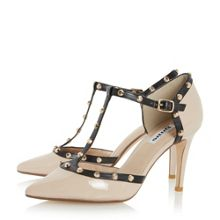 Dune Cliopatra studded t-bar court shoes