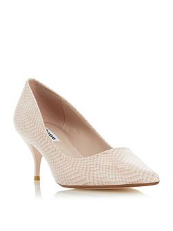 Allera pointed toe mid heel court shoes