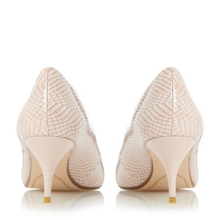 Dune Allera pointed toe mid heel court shoes
