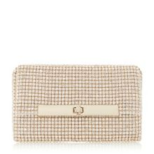 Dune Enya diamante turnlock clutch bag