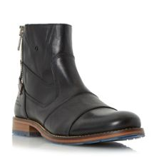 Dune Cackle Double Toecap side zip leather boots