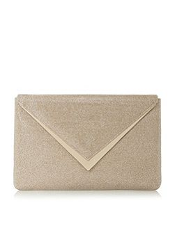 Dune Behan v-trim envelope clutch bag