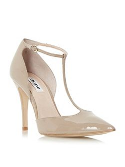 Camie pointed toe t-bar high court shoes