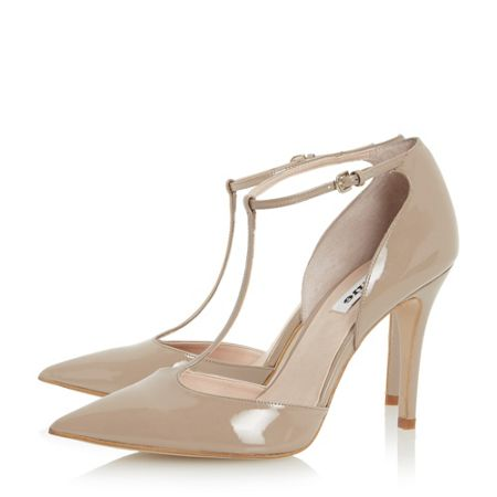 Dune Camie pointed toe t-bar high court shoes