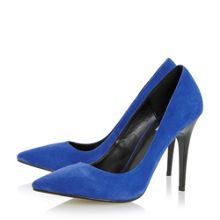 Dune Azara pointed toe high heel court shoes