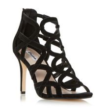 Dune Maida loop caged high heel sandals