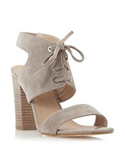 Irana lace up two part heeled sandals