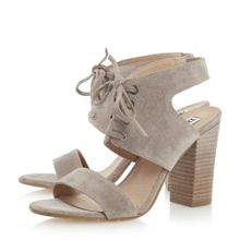 Dune Irana lace up two part heeled sandals