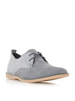 Bertie Bronson contrast stitch lace up shoes