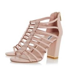 Maybells metal plated block heel sandals