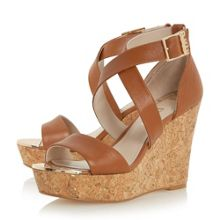 Biba Kanya strap wedge sandals
