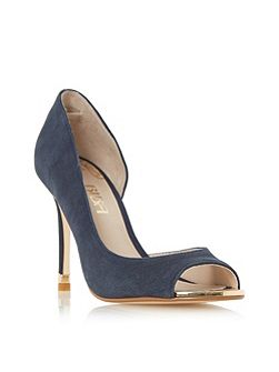 Delfina toe plate d`orsay court shoes