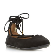 Head Over Heels Halvin pointed toe ghillie lace up shoes