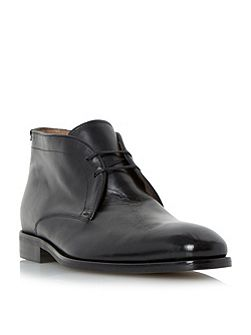 Marrick two eye lace up leather boots