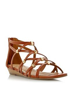 Lagel strappy mini wedge sandals