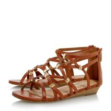 Head Over Heels Lagel strappy mini wedge sandals