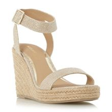 Head Over Heels Kallisto two part espadrille wedges