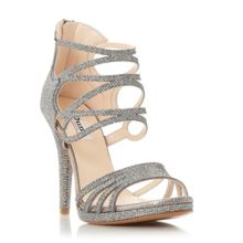 Dune Miroir vh strappy metallic sandals