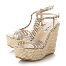 Dune Manifique platform wedge sandals