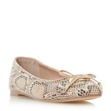 Dune Heanda square toe bow trim ballerinas