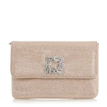 Dune Bree jewelled brooch clutch bag