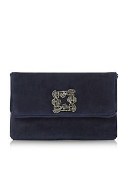 Bree jewelled brooch clutch bag