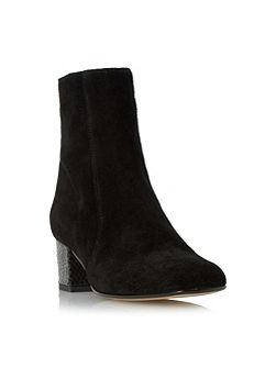 Orro square toe suede ankle boots