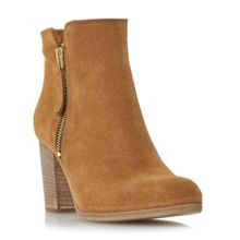 Phollie side zip detail suede ankle boot