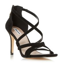 Dune Malibu cross strap high heel sandals