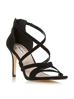 Malibu cross strap high heel sandals