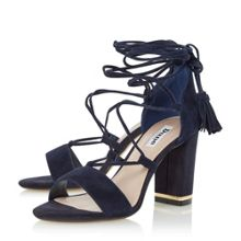 Dune Margo ghillie lace up block heel sandals