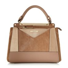 Dune Drayson metallic patchwork bag