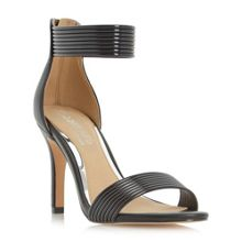 Head Over Heels Maven rib detail mid heel sandals