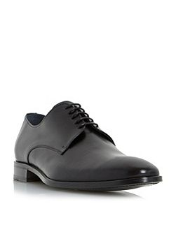 Dune Black Redgraves chisel toe leather derby shoes