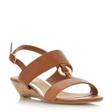 Head Over Heels Kalipso ring trim mini wedge sandals