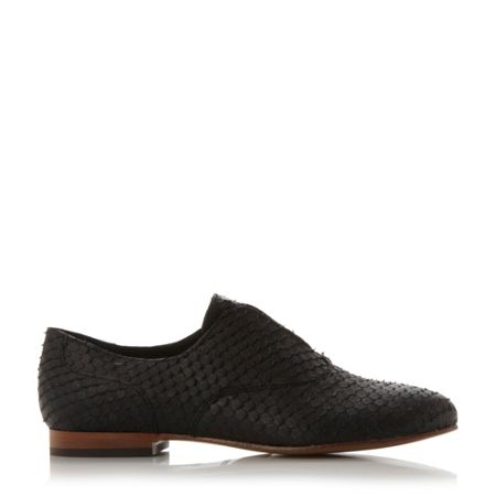 Dune Black Gia laceless loafers