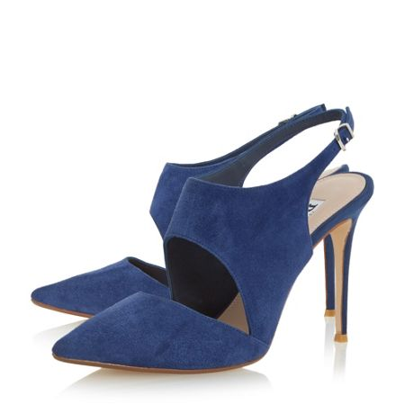 Dune Caprice stiletto slingback court shoes