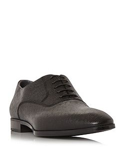 Uniol embossed leather oxford shoes